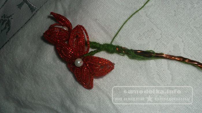 Цветы своими руками ленточек